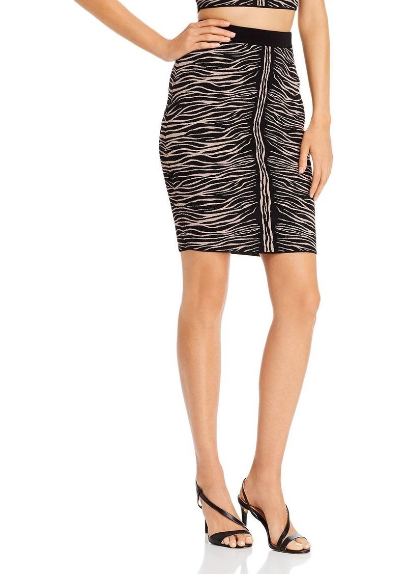 GUESS Mirage Zebra Jacquard Skirt