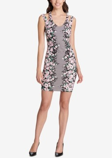 Guess Mirror-Floral Bodycon Dress