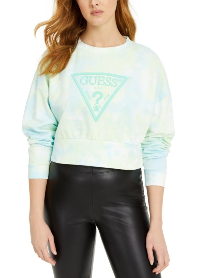 Guess Mirtilla Fleece Tie-Dye Logo Sweatshirt
