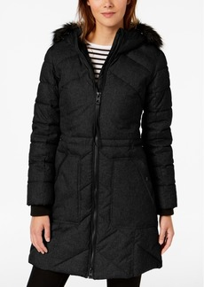 Guess Mixed-Media Hooded Parka