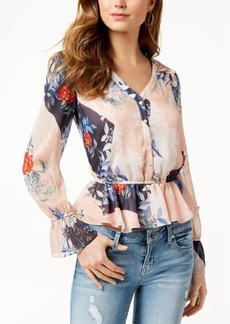 Guess Montara Printed Peplum Top