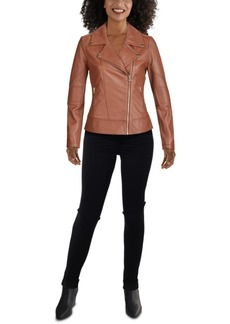Guess Moto Leather Jacket, Created for Macy's