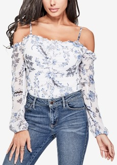 Guess Natassia Floral-Print Off-The-Shoulder Top