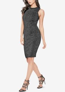 Guess Nathalie Shimmer Lace-Up Sweater Dress