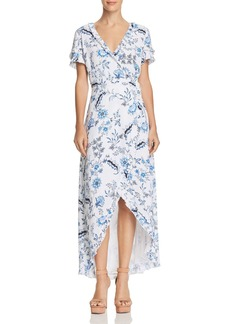 GUESS Nicolle Paisley Floral Maxi Wrap Dress