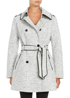 GUESS Novelty Double-Breasted Trench Coat