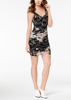 Guess Odette Ruched Floral-Print Dress