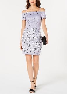 Guess Off-The-Shoulder Floral-Print Dress