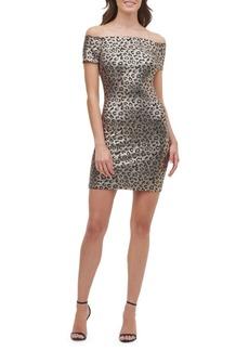 Guess Off-The-Shoulder Mini Sheath Dress