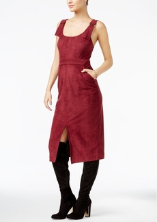 Guess Olivia Faux-Suede Apron Dress