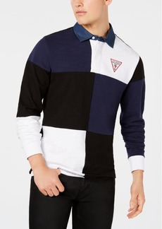 Guess Originals Men's Go Caleb Pieced Colorblocked Rugby Polo
