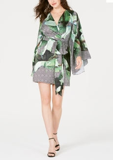 Guess Pansy Printed Faux-Wrap Dress