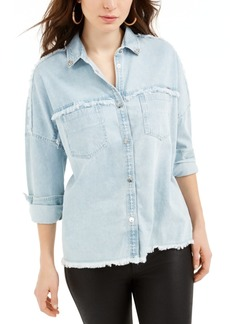 Guess Parisian Frayed-Edge Denim Shirt