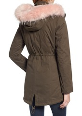 Guess Parka with Removable Faux Fur Trim Hood