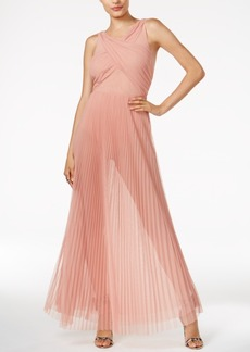 Guess Paulina Sheer Pleated Dress
