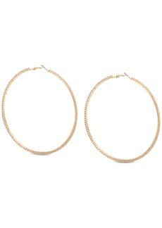 Guess Pave Large Hoop Earrings