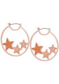 """Guess Pave Medium Star Hoop Earrings 2"""""""