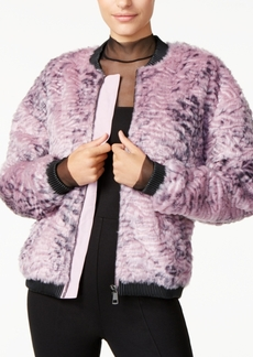 Guess Penny Faux-Fur Bomber Jacket