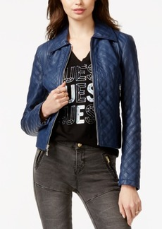 Guess Penny Quilted Faux-Leather Jacket