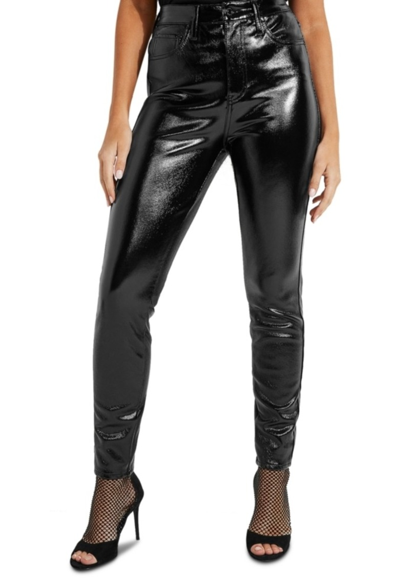 Guess Petra High Rise Faux-Leather Jeans