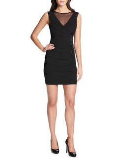 Guess Pintuck Sheath Dress
