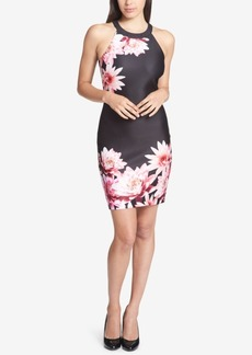 Guess Placed Floral-Print Halter Dress