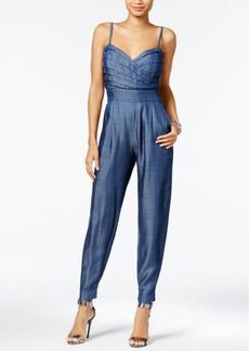 Guess Pleated Chambray Jumpsuit
