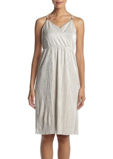 GUESS Pleated Satin Dress