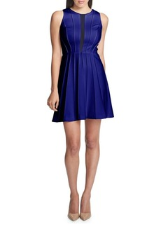 Guess Pleated Sleeveless Fit-&-Flare Dress