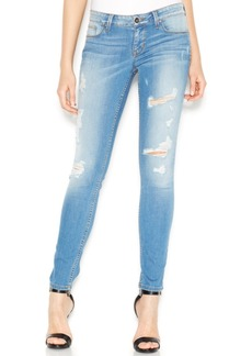 Guess Power Low-Rise Distressed Skinny Jeans
