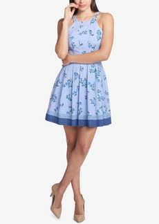 Guess Printed Fit & Flare Dress