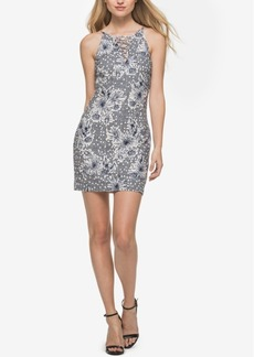 Guess Printed Lace-Up Sheath Dress