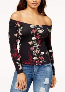 Guess Printed Off-The-Shoulder Top