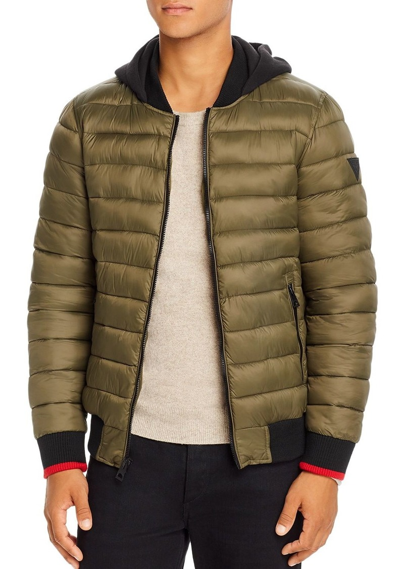GUESS Puffer Regular Fit Bomber Jacket