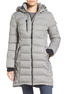 GUESS Quilted Hooded Puffer Coat