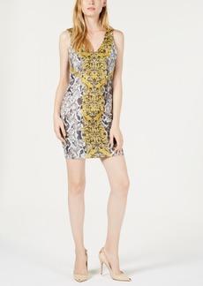 Guess Rae Python-Print Bodycon Dress