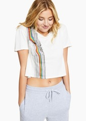 Guess Rainbow Cropped T-Shirt