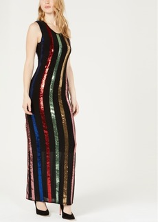 Guess Rainbow Sequin Maxi Dress