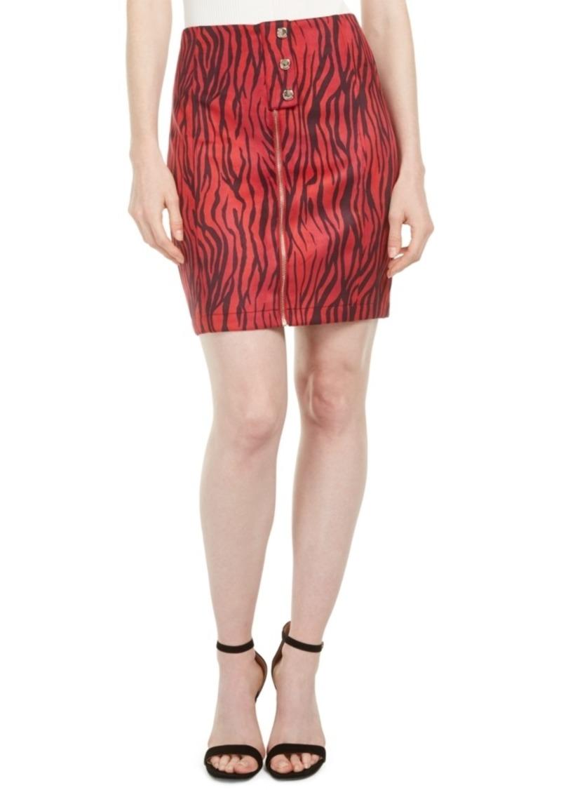 Guess Rayanna High-Waist Zebra-Print Miniskirt