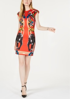 Guess Reiko Printed Panther Bodycon Dress