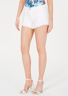 Guess Riley Frayed Denim Shorts