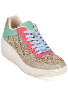 Guess Rillie Low Wedge Sneakers Women's Shoes