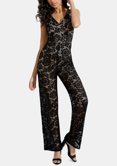 Guess Riona Sleeveless Lace Jumpsuit