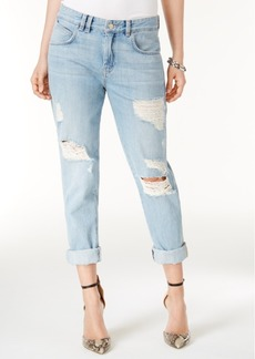 Guess Ripped Cotton Super Bleach Wash Boyfriend Jeans