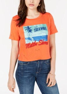 Guess Ripped Malibu-Shores Graphic T-Shirt