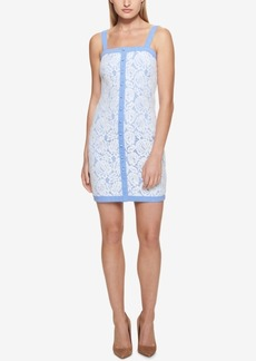 Guess Rose-Lace Chambray Dress