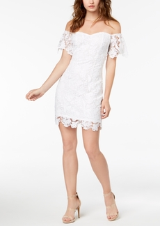 Guess Roselee Off-The-Shoulder Lace Dress