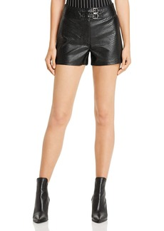 GUESS Rosetta Embossed Faux Leather Shorts