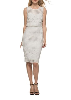 Guess Roundneck Cutout Popover Dress