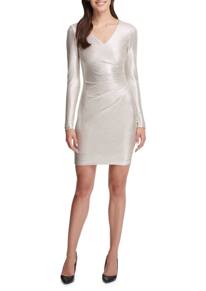 Guess Ruched Bodycon Dress